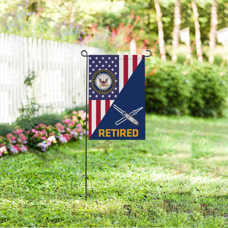 Navy Lithographer Navy LI Retired Garden Flag 12'' x 18'' Twin-Side Printing