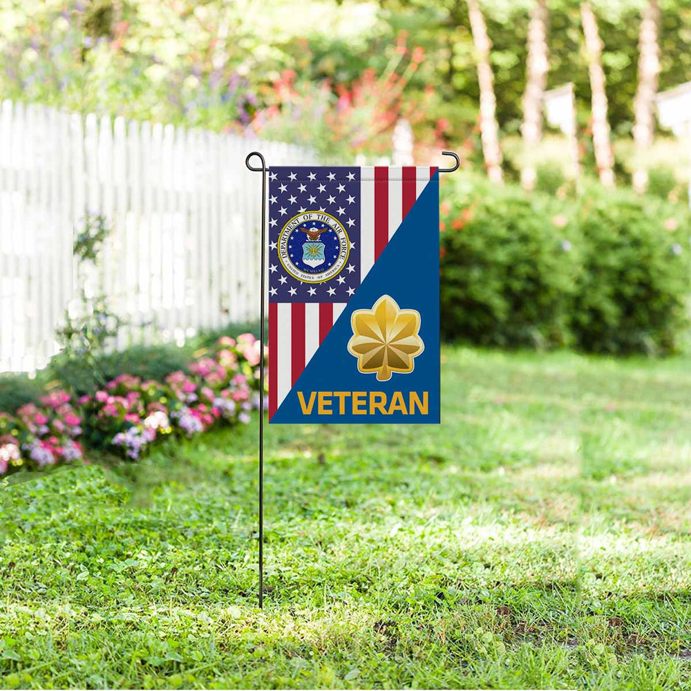 US Air Force O-4 Major Maj O4 Veteran Garden Flag 12'' x 18'' Twin-Side Printing
