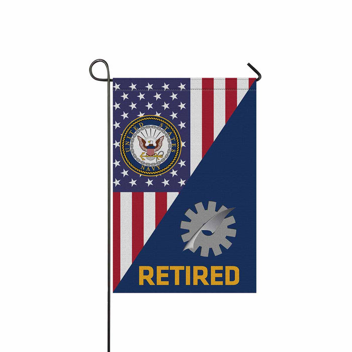 Navy Data Processing Technician Navy DP Retired Garden Flag 12'' x 18'' Twin-Side Printing