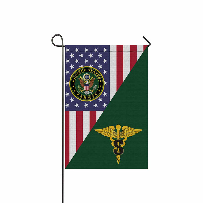 US Army Medical Specialist Corps Garden Flag 12 Inch x 18 Inch Twin-Side Printing