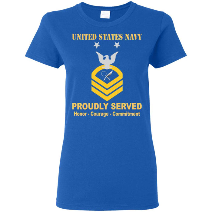 US Navy Intelligence Specialist Navy IS E-9 MCPO Master Chief Petty Officer Ladies' T-Shirt