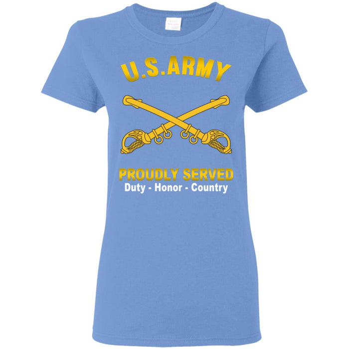 US Army Cavalry Proudly Served Ladies' T-Shirt