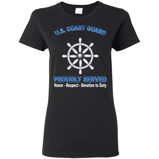 US Coast Guard Quartermaster QM Proudly Served Ladies' T-Shirt