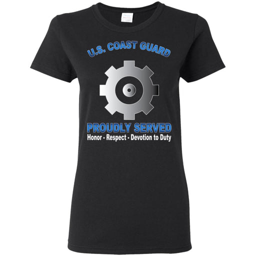 US Coast Guard Machinery Technician MK Proudly Served Ladies' T-Shirt