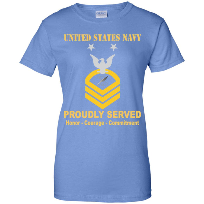 US Navy Journalist Navy JO E-9 MCPO Master Chief Petty Officer Ladies' T-Shirt