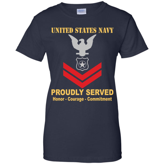 US Navy Master-at-arms Navy MA E-5 PO2 Petty Officer Second Class Ladies' T-Shirt