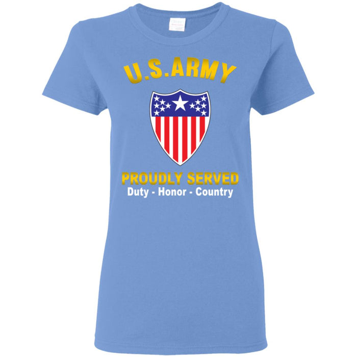 US Army Adjutant General Proudly Served Ladies' T-Shirt
