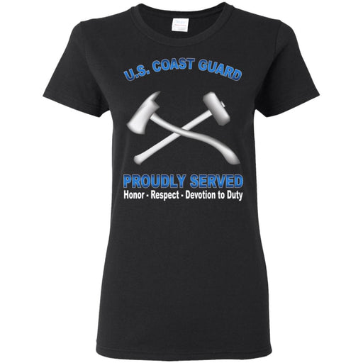 US Coast Guard Damage Controlman DC Proudly Served Ladies' T-Shirt