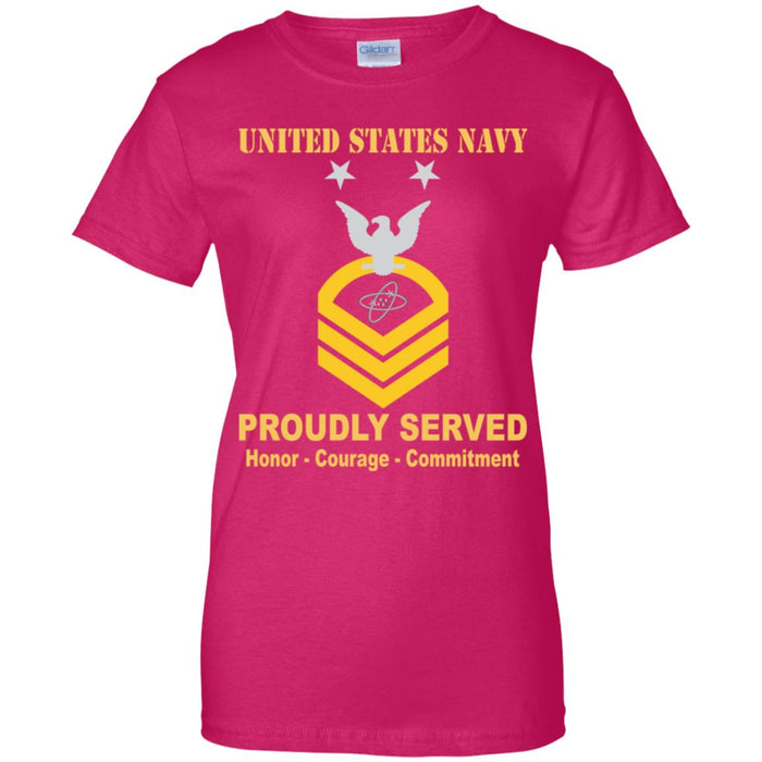 US Navy Electronics technician Navy ET E-9 MCPO Master Chief Petty Officer Ladies' T-Shirt