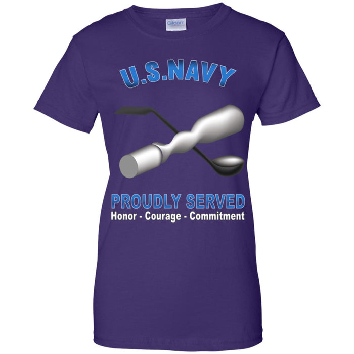 US Navy Molder Navy ML Proudly Served Core Values Ladies' T-Shirt