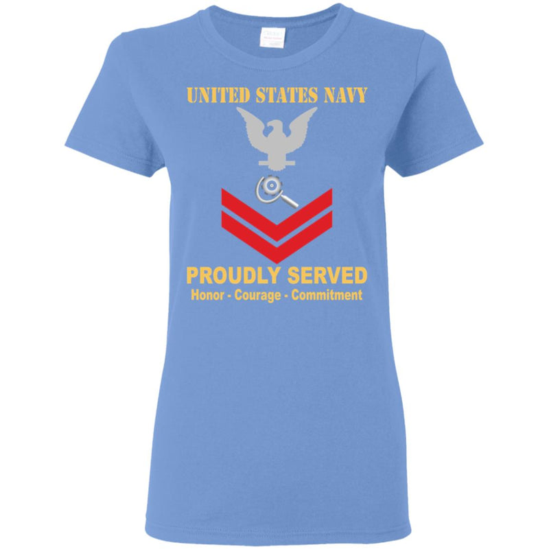 US Navy Machinery repairman Navy MR E-5 PO2 Petty Officer Second Class Ladies' T-Shirt