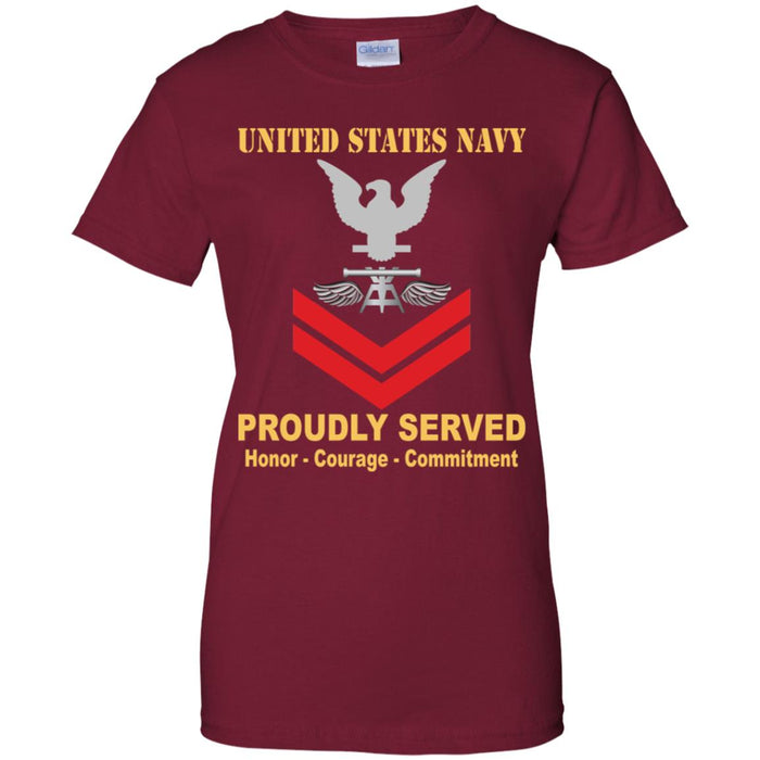 US Navy Aviation Fire Control Tech Navy AQ E-5 PO2 Petty Officer Second Class Ladies' T-Shirt