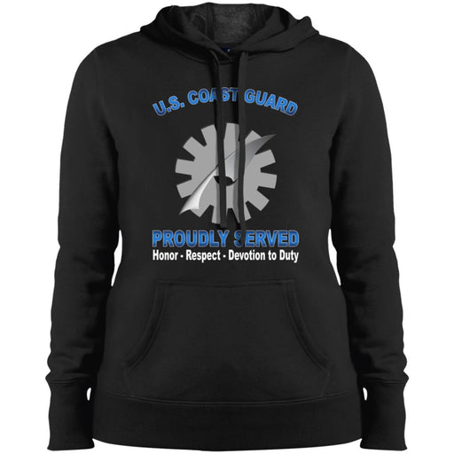 US Coast Guard Data Processing Technician DP Proudly Served Sport-Tek Ladies' Pullover Hooded Sweatshirt