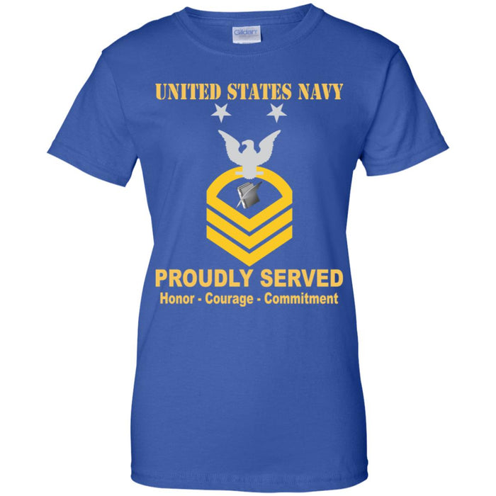 US Navy Personnel Specialist Navy PS E-9 MCPO Master Chief Petty Officer Ladies' T-Shirt