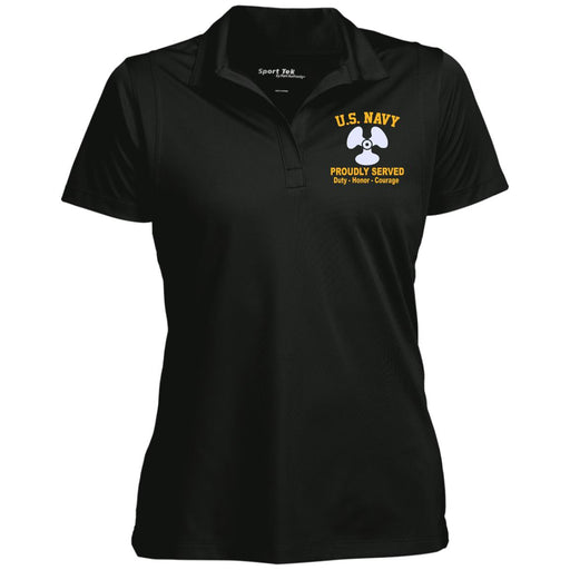US Navy Machinist's Mate MM Logo Sport-Tek Women's Micropique Tag-Free Flat-Knit Collar Polo