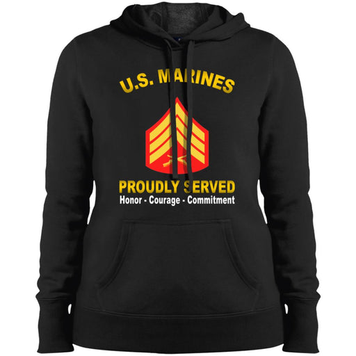 USMC E-5 Sergeant E5 Sgt USMC Noncommissioned Officer  Proudly Served Sport-Tek Ladies' Pullover Hooded Sweatshirt