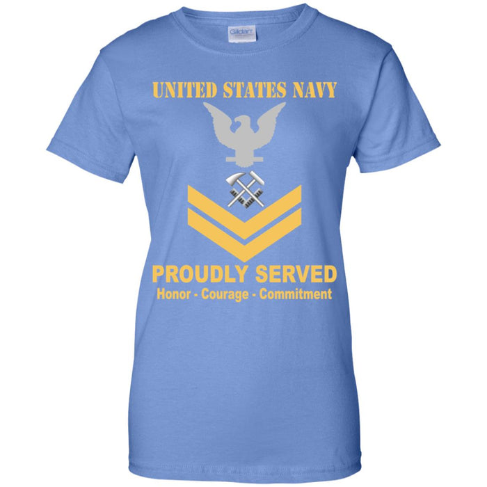 US Navy Hull Maintenance Technician Navy HT E-5 Gold Stripe PO2 Petty Officer Second Class Ladies' T-Shirt