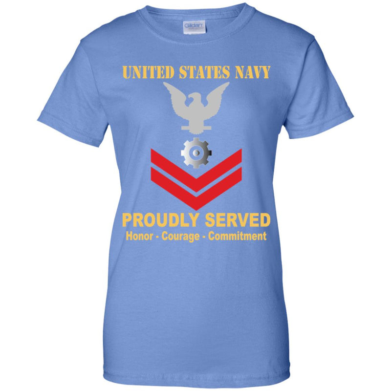 US Navy Engineman Navy EN E-5 PO2 Petty Officer Second Class Ladies' T-Shirt