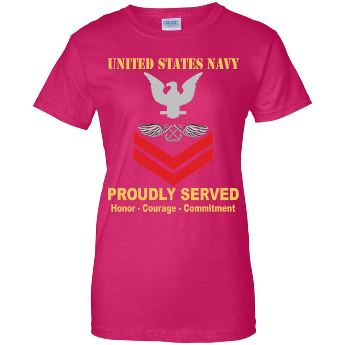 US Navy Aviation Boatswain's Mate Navy AB E-5 PO2 Petty Officer Second Class Ladies' T-Shirt