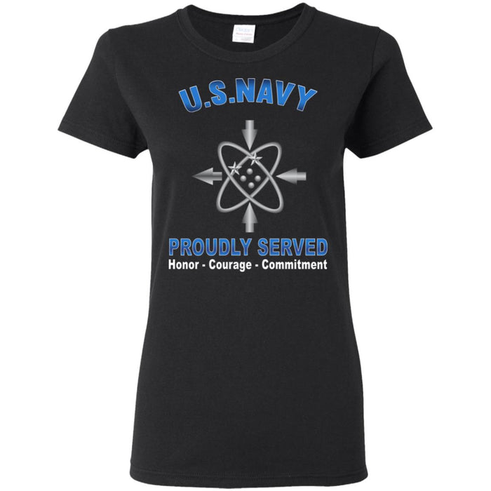 U.S Navy Data systems technician Navy DS Proudly Served Core Values Ladies' T-Shirt