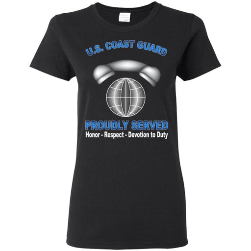 US Coast Guard Information Systems Technician IT Proudly Served Ladies' T-Shirt