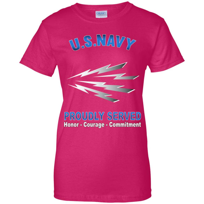 U.S Navy Radioman Navy RM Proudly Served Core Values Ladies' T-Shirt