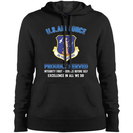US Air Force Air National Guard Proudly Served Sport-Tek Ladies' Pullover Hooded Sweatshirt
