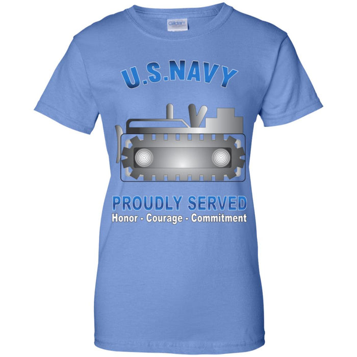 US Navy Equipment Operator Navy EO Proudly Served Core Values Ladies' T-Shirt