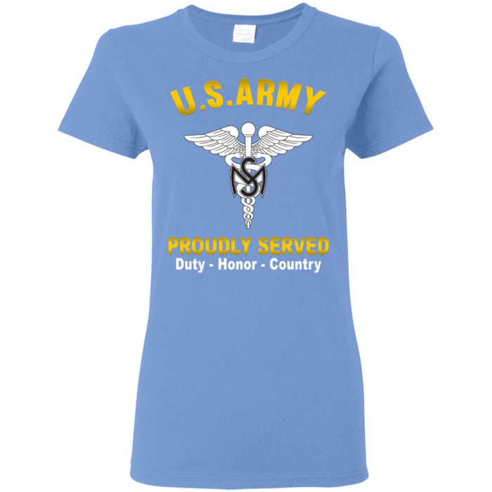 US Army Medical Service Corps Proudly Served Ladies' T-Shirt