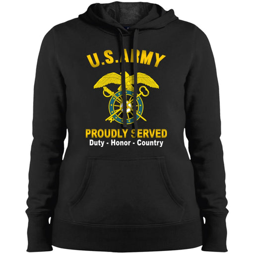 US Army Quartermaster Corps Proudly Served Sport-Tek Ladies' Pullover Hooded Sweatshirt