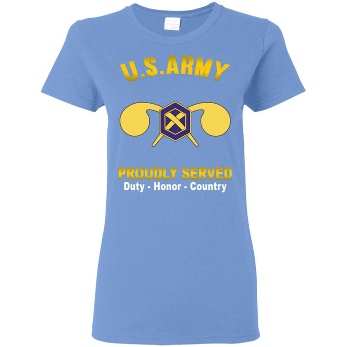 US Army Chemical Corps Proudly Served Ladies' T-Shirt