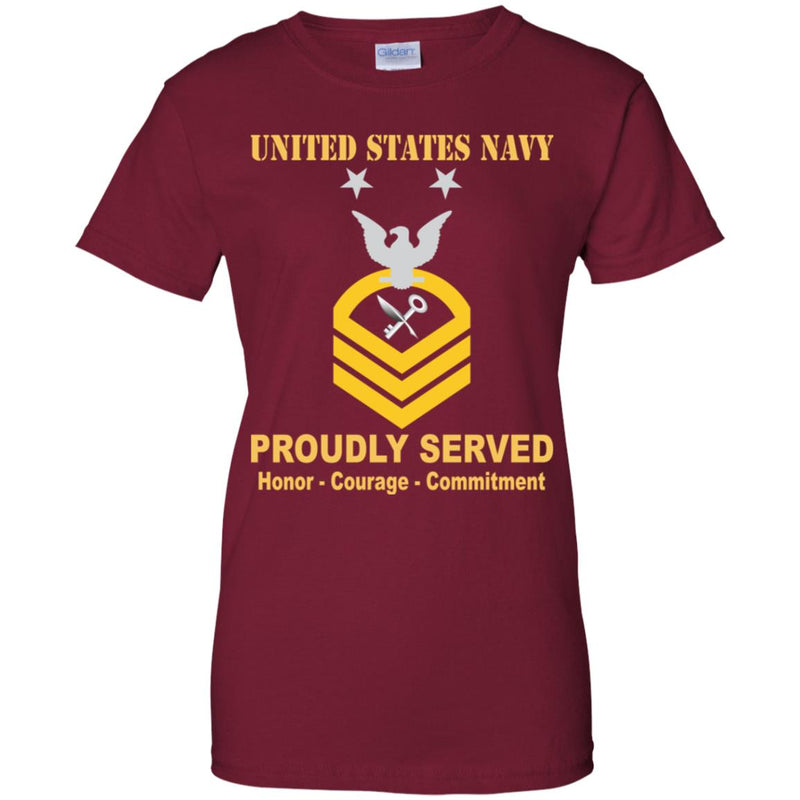 US Navy Ship's Serviceman Navy SH E-9 MCPO Master Chief Petty Officer Ladies' T-Shirt