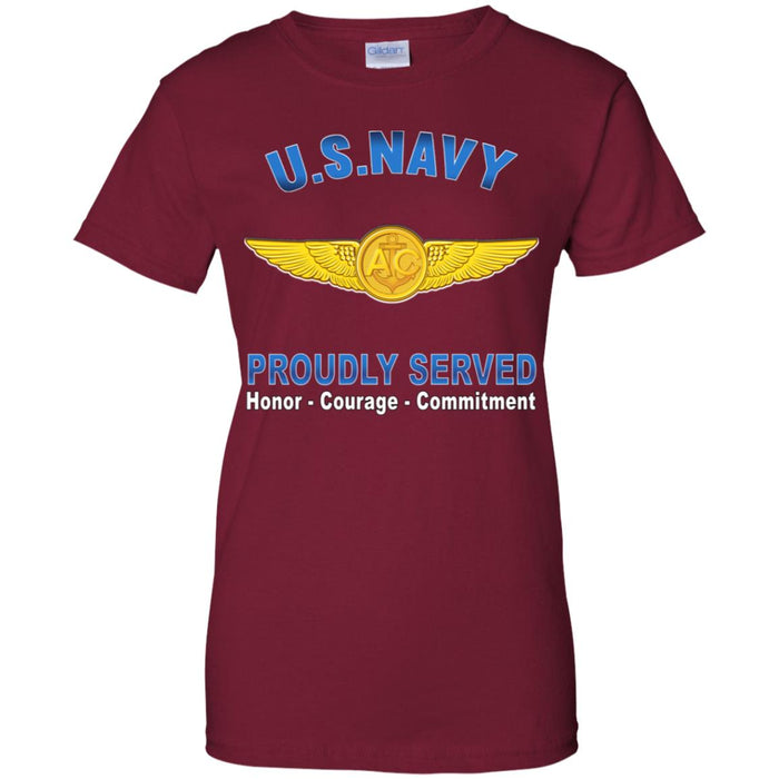 US Navy Naval Aircrew Warfare Specialist Proudly Served Ladies' T-Shirt