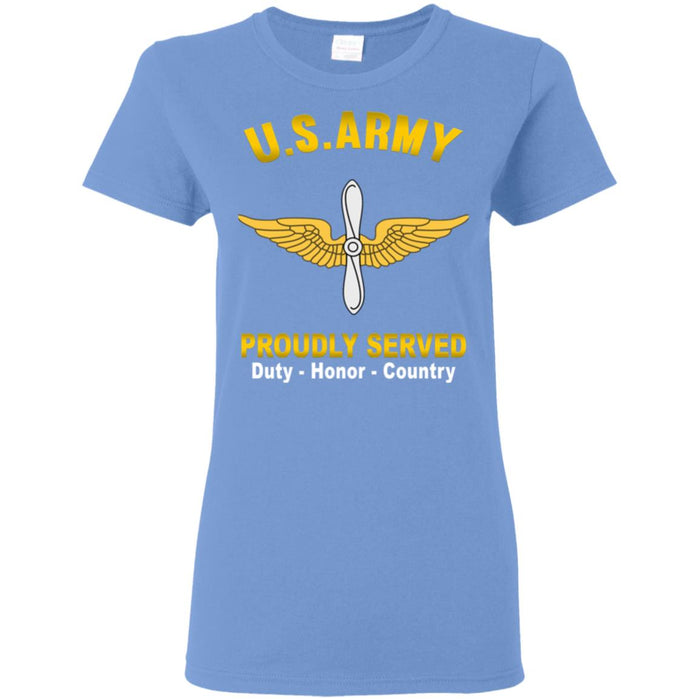 US Army Aviation Proudly Served Ladies' T-Shirt