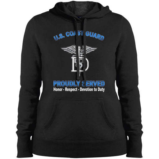 US Coast Guard Dental Technician DT Proudly Served Sport-Tek Ladies' Pullover Hooded Sweatshirt