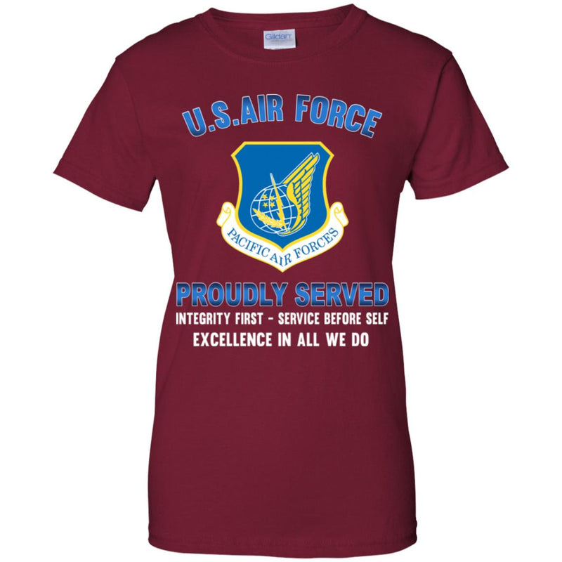 US Air Force Pacific Air Forces Proudly Served Ladies' T-Shirt