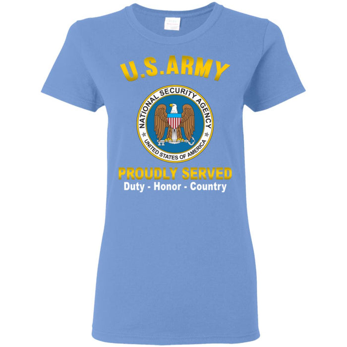 U.S National Security Agency Proudly Served Ladies' T-Shirt
