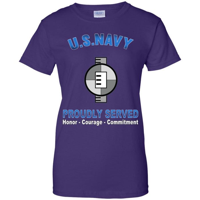 US Navy Engineering Aide Navy EA Proudly Served Core Values Ladies' T-Shirt