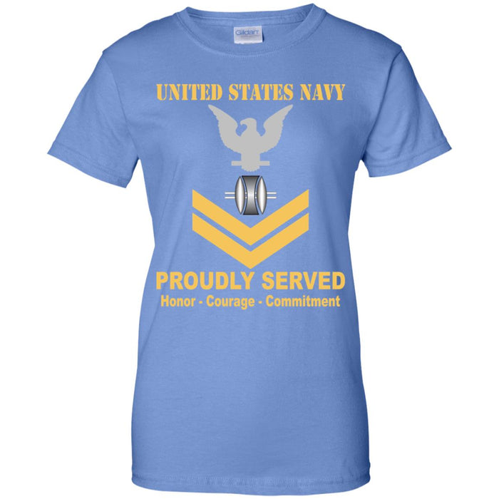 US Navy Opticalman Navy OM E-5 Gold Stripe PO2 Petty Officer Second Class Ladies' T-Shirt