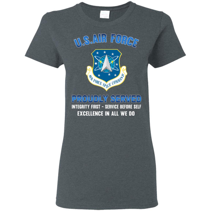 US Air Force Space Command Proudly Served Ladies' T-Shirt