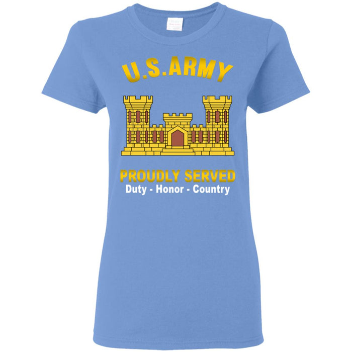 U.S. Army Corps of Engineers Proudly Served Ladies' T-Shirt