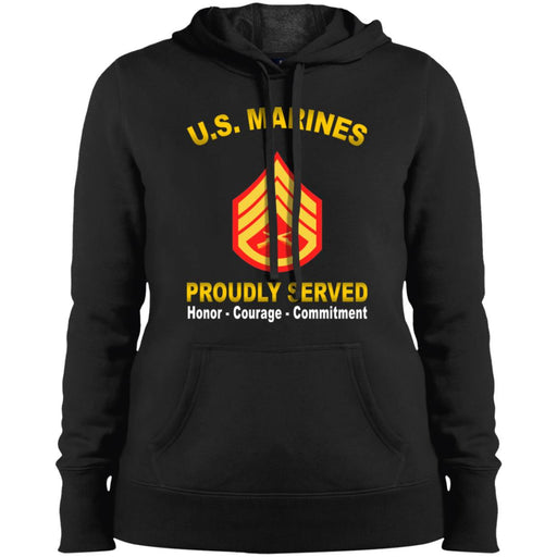 USMC E-6 Staff Sergeant E6 SSgt USMC Staff Noncommissioned Officer  Proudly Served Sport-Tek Ladies' Pullover Hooded Sweatshirt