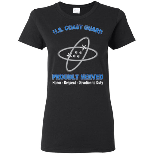 US Coast Guard Electronics Technician ET Proudly Served Ladies' T-Shirt