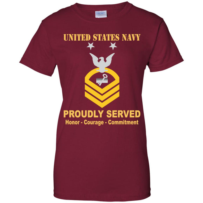 US Navy Disbursing Clerk Navy DK E-9 MCPO Master Chief Petty Officer Ladies' T-Shirt