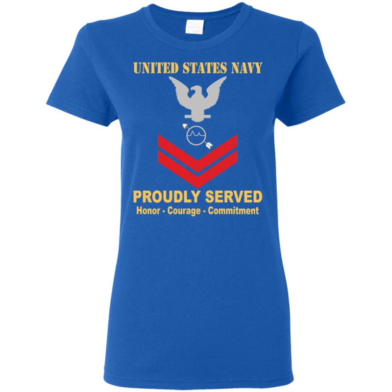 US Navy Operations specialist Navy OS E-5 PO2 Petty Officer Second Class Ladies' T-Shirt