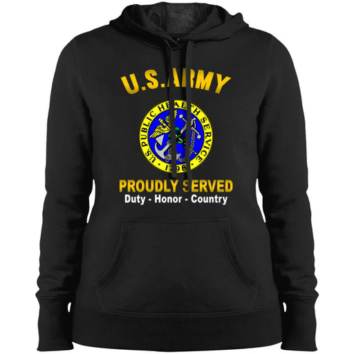 US Army Public Health Service Proudly Served Sport-Tek Ladies' Pullover Hooded Sweatshirt