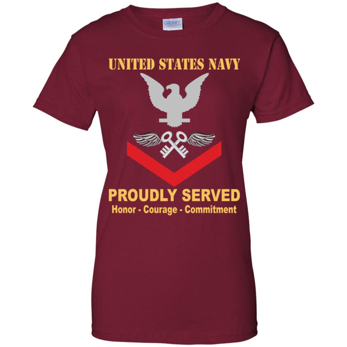 US Navy Aviation Storekeeper Navy AK E-4 PO3 Petty Officer Third Class Ladies' T-Shirt