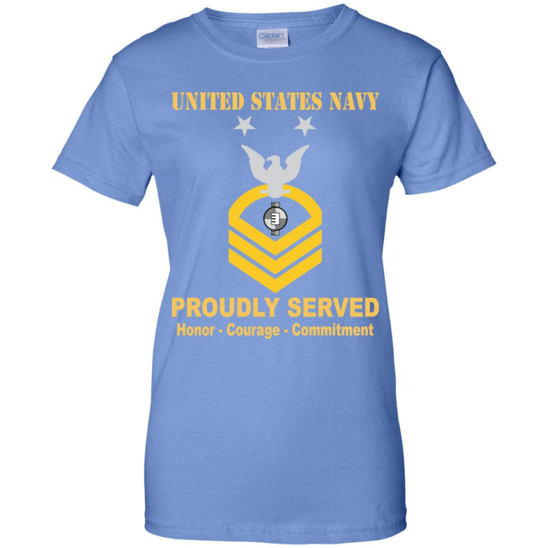 US Navy Engineering Aide Navy EA E-9 MCPO Master Chief Petty Officer Ladies' T-Shirt