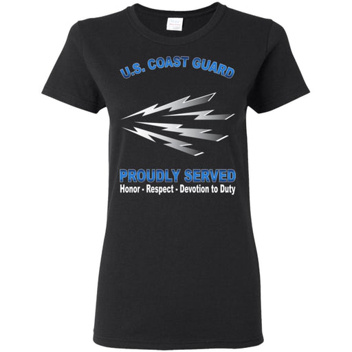 US Coast Guard Telecommunications Specialist TC Proudly Served Ladies' T-Shirt
