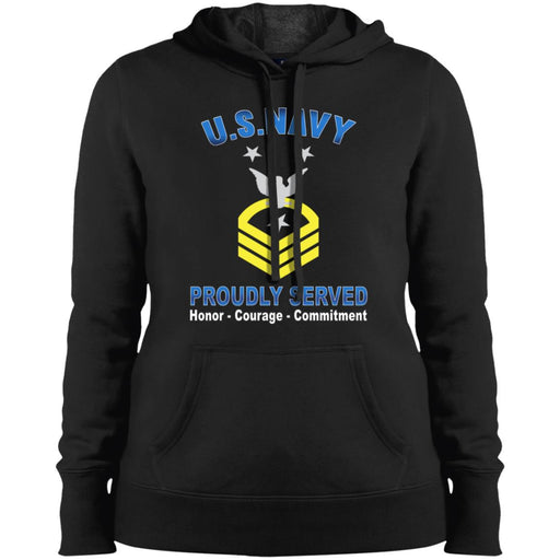 US Navy E-9 Command Master Chief Petty Officer E9 CMDCM Senior Enlisted Advisor Collar Device Proudly Served Sport-Tek Ladies' Pullover Hooded Sweatshirt
